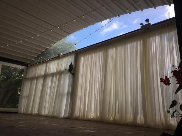 Window Drape for a Wedding at Galleria Marchetti Pergola